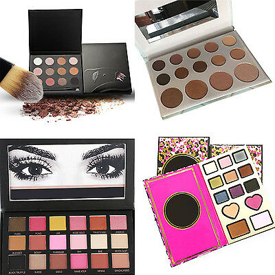 WELL 18 Colors Eyeshadow Textured Pallete Faced Matte Make up Eye Shadow Palette