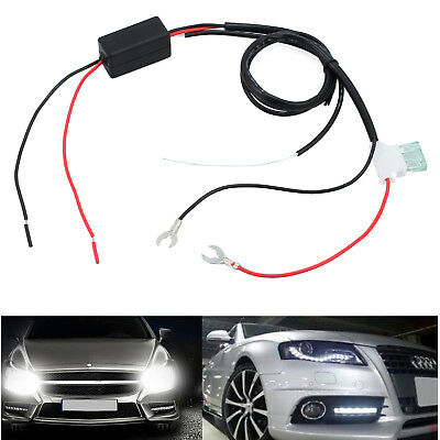 Automatic ON/OFF DRL Control Car LED Daytime Running Light Relay Harness Dimmer
