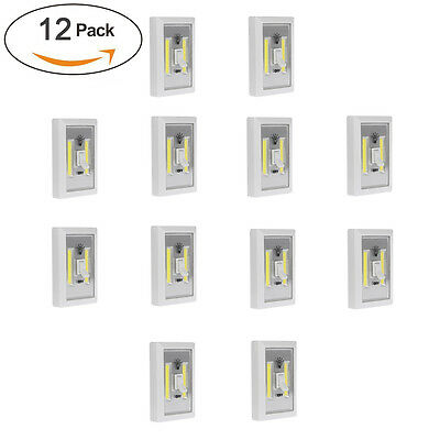12 Pack Deal Premium Led Wireless Cob Switch Light Magnetic Wireless Wall Night
