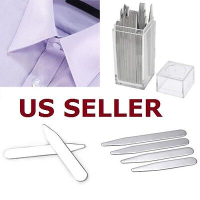 40pcs Metal Collar Stays Bone Stiffeners 4 Sizes Inserts in Box For MenÆs Shirt