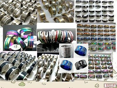 Wholesale 200 Mix lot Stainless Steel Rings Man Women Fashion Jewelry Lots