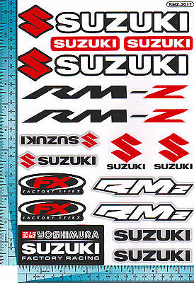 1 sh. suzuki rm-z rmz factory effex racing decal sticker vinyl die cut moto bike