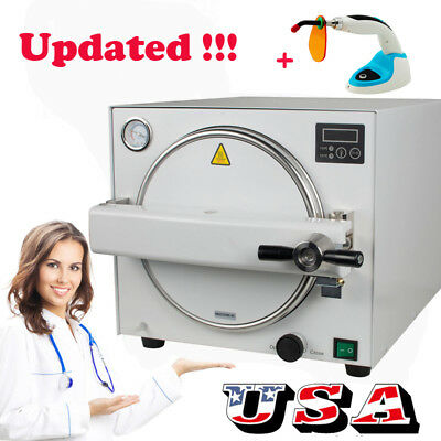 18L! Dental Autoclave Steam Sterilizer Medical sterilizition curing light FDA CE
