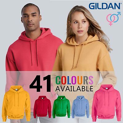 GENUINE GILDAN HEAVYWEIGHT Plain Hooded Sweatshirt Hoodie G18500 • 33 COLOURS