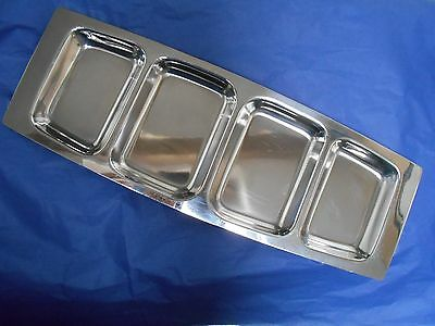 Danish LUNDTOFTE RETRO 1970s nibbles tray stainless steel mid century modernist