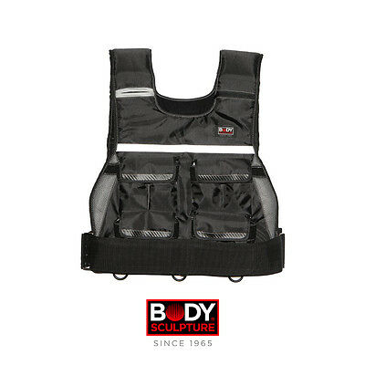 Body Sculpture BB966 10kg Adjustable Weighted Vest (with DVD)