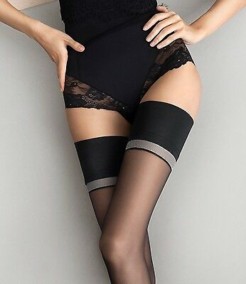 Fiore Divine 20 Denier Elegant Sheer Hold Ups With Plain Top New Size S M L