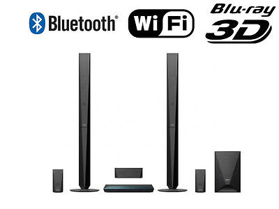 Sony HD 3D WiFi Blu-ray 5.1 Wireless Home Cinema 1000W System Speakers Subwoofer