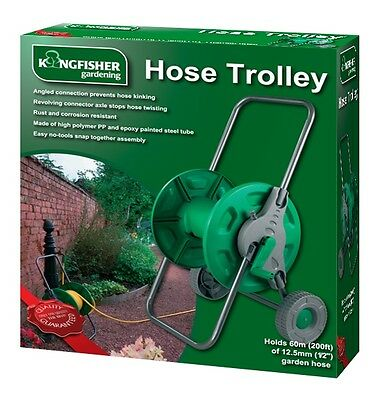 Portable Hose Pipe Reel Holder Trolley Cart Garden Water Pipe Carrier Rust Proof