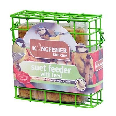 BFSET4 Suet Cake Feeder Feed Wild Birds Feeding Hanging Holder Garden with Food