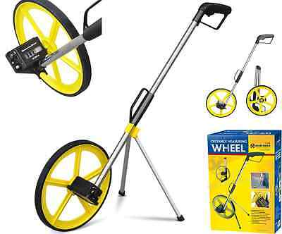 Foldable Distance Measuring Wheel Stand Surveyors Builders Road Land Field Map