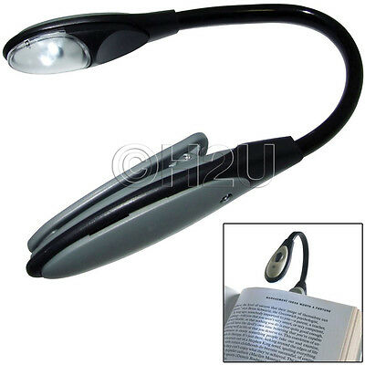 Led Flexible Clip On Book Reading Bright Light Lamp Torch For Ipad Kindle Laptop