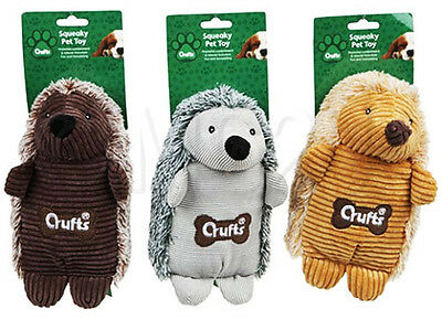 Crufts Squeaky Hedgehog Dog Toy Play Fun Pet Care Home Accessories Pup Puppy