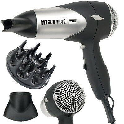Wahl Zx508 Maxpro 1600W Power Hair Dryer Heat Cool Turbo Motor Nozzle Air Filter