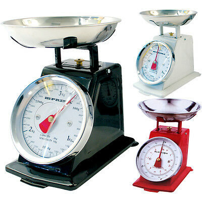 New 3Kg Traditional Weighing Kitchen Scale Bowl Retro Scales Mechanical Vintag