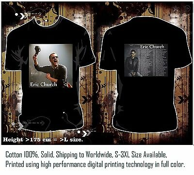 Eric Church Tour 2017 - Black Men's T-Shirt - Hua-01