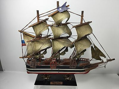"Vintage,Assembled Wood Clipper Ship, (FLYING CLOUD) Stand,13.75"" x 2.5"" x 12.5"""
