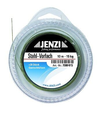 Steel Wire Leader 11 YARDS spool 30 LB nylon coated fishing + incl. 20 sleeves