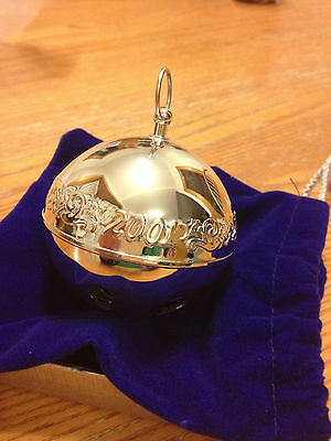 2001 Lands End Silverplate Christmas Bell (Made by Wallace)