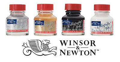 Winsor & Newton Kalligraphie Tinte 30ml Flasche I Hell Gold, Silber,