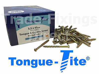 Tongue-Tite Flooring Screws 3.5 x 45mm TFTT03545 Trade-Fixings Direct