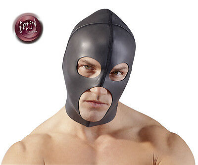 Maschera per giochi erotici Fetish Bondage Mask Hood Smooth Black