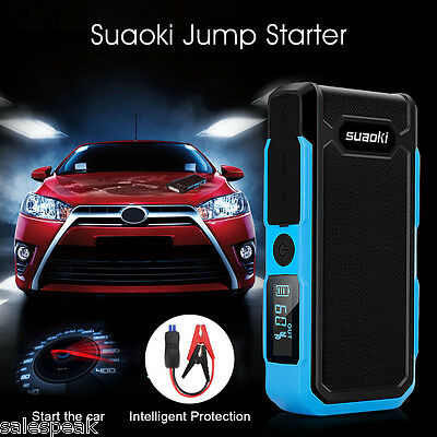 12V 20000mAh Auto Car Jump Starter Car Booster Chargeur Urgence Batterie LCD FR