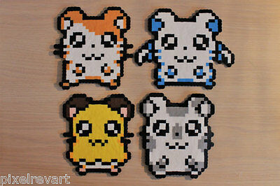 Hamtaro Pixel Art Bead Sprites from the Hamtaro Anime Series