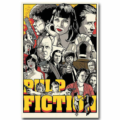 Pulp Fiction Classic Movie Silk Poster 12x18 24x36 inch 002