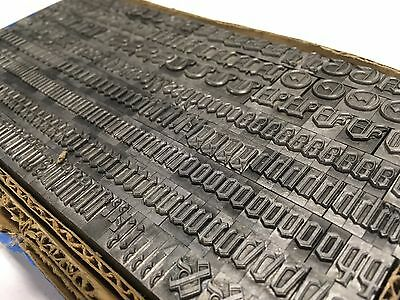 Goudy Text 36 pt  -  Letterpress Type  - Vintage Printer's Lead Metal Type