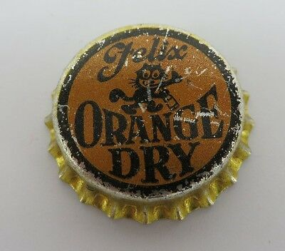 unused FELIX the cat ORANGE DRY Soda Pop cork soda bottle cap