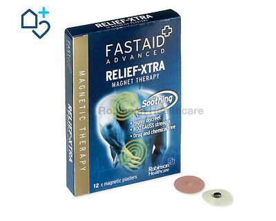 x12 FastAid ADVANCED Relief-XTRA Magnet Therapy MAGNETIC PLASTERS