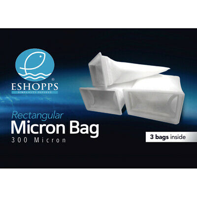 Eshopps 7 Inch 300 Micron Bag Package 3 Pack For All Sumps 2x3 pack bulk