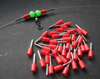 50 X Crimp Sleeves 1.0Mm Inner Dia, Wire Trace Rigs For Pike, Sea Fishing