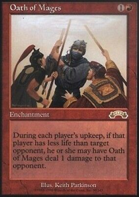 1 PLAYED Oath of Lieges White Exodus Mtg Magic Rare 1x x1