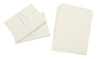 """150 Ivory Blank Greeting Cards and Envelopes 5"""" x 7"""" A7 Notes Office Invitations"""