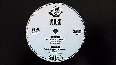 "MURO - K.M.W. / Weekend Funk #7 12"" (INCREDIBLE RECORDS KODP-98003) JAPAN 1999"