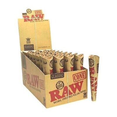 RAW KING SIZE CLASSIC PRE ROLLED CONES - Full Box of 96 Cones - FREE SHIPPING
