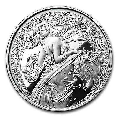 Alphonse Mucha Collection - DANCE 1 oz .999 Silver Proof Round USA Made Coin