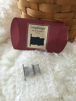 Longaberger Tie-On:  Old Glory flag Pin  Mint in the Box! New