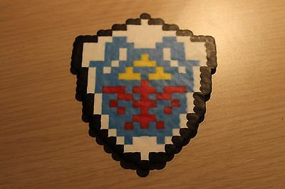 Hylian Shield Pixel Art Bead Sprite from the Legend of Zelda Series