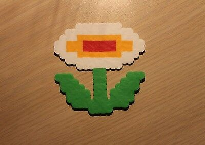 Fire Flower Pixel Art Bead Sprite from Super Mario Bros