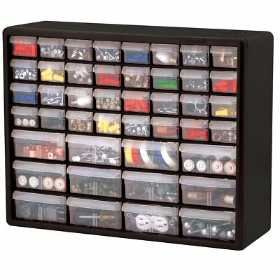 44 clear unbreakable drawers Hardware and Craft storage Box Made in the USA