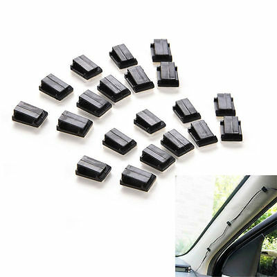 40PCS Car Recorder Wire Cable Holder Tie Clips fixed Organizer Adhesive Clamp