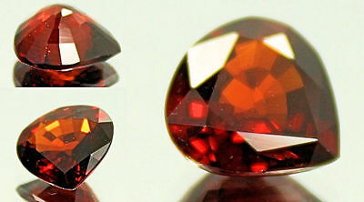 3.03 Carat Orange Red Spessartite Garnet