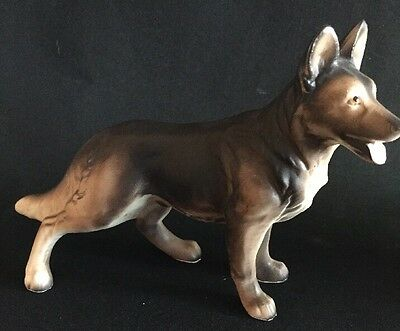 German Shepherd Dog Figurine Japan Vintage Arnart Creations Numbered