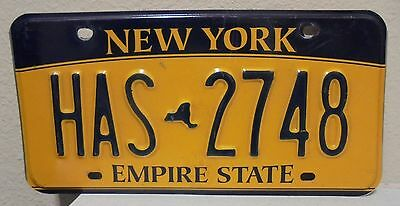 2012 New York  Empire State Gold License Plate Has 2748 Used