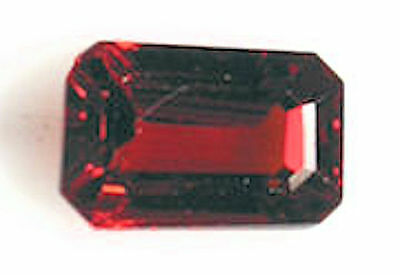 2.92 Carat Orange Red Spessartite Garnet