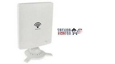 ANTENNA SCHEDA WIRELESS WIFI 300Mbps USB ALTA POTENZA 58dBi PC FISSI NOTEBOOK