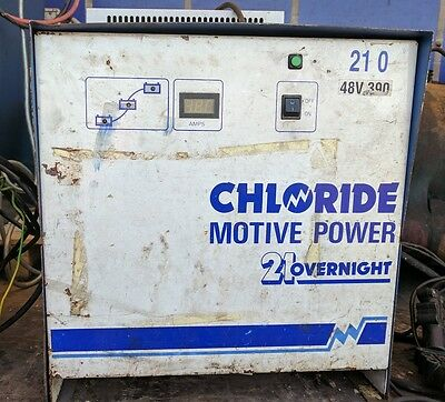 Chloride Motive Power 21 Overnight 48 Volt 390 Amp Battery Charger  .